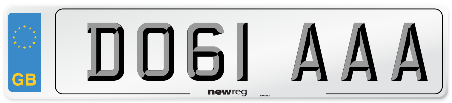 DO61 AAA Number Plate from New Reg