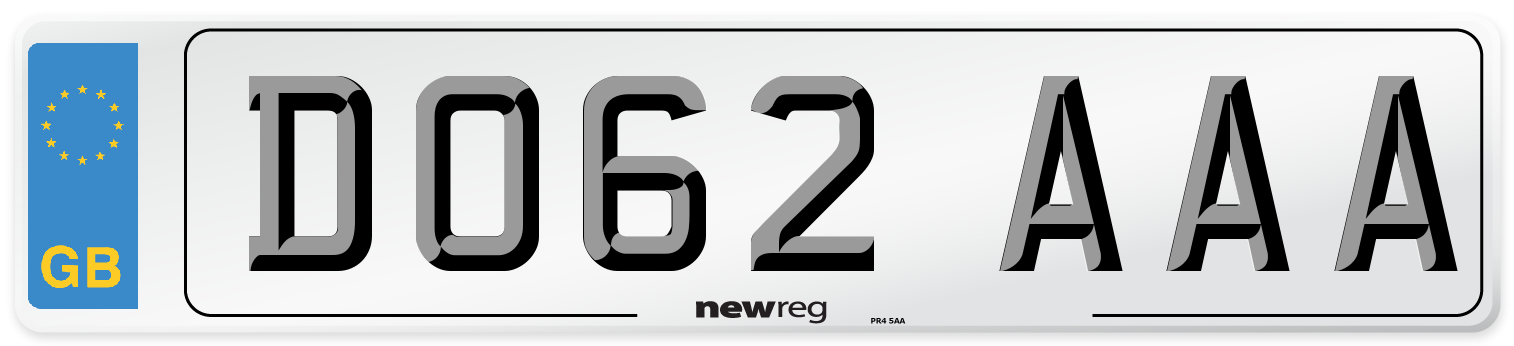 DO62 AAA Number Plate from New Reg