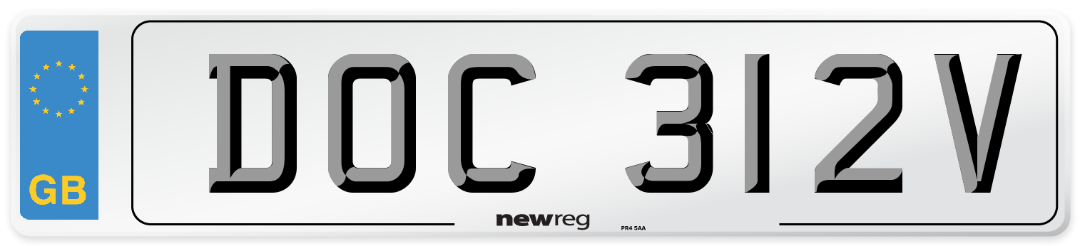 DOC 312V Number Plate from New Reg