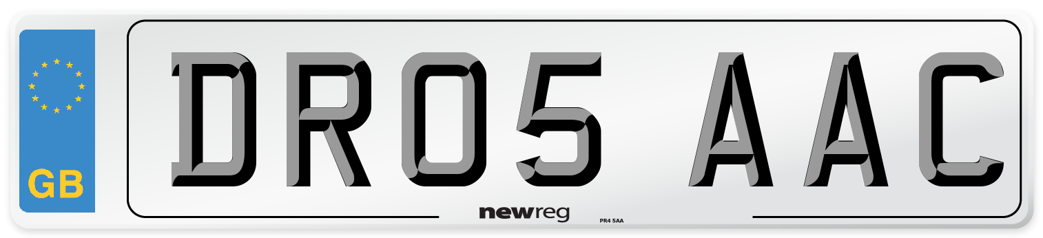DR05 AAC Number Plate from New Reg