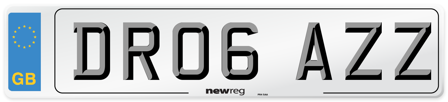 DR06 AZZ Number Plate from New Reg