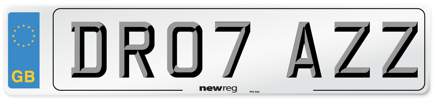 DR07 AZZ Number Plate from New Reg