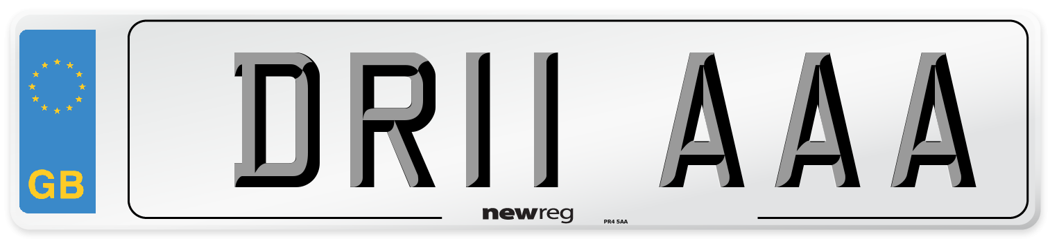 DR11 AAA Number Plate from New Reg
