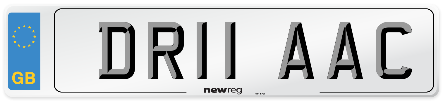 DR11 AAC Number Plate from New Reg
