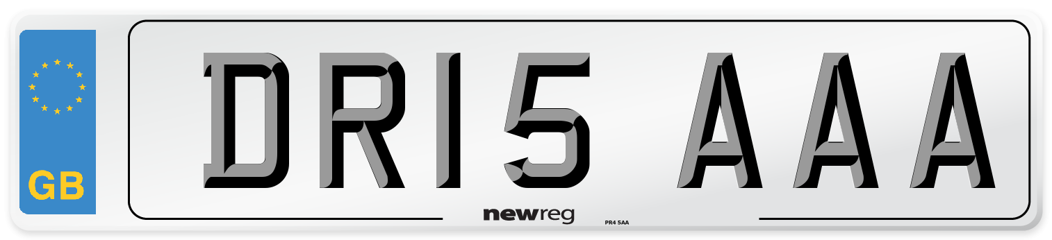 DR15 AAA Number Plate from New Reg