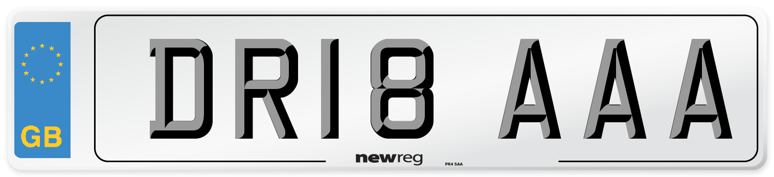 DR18 AAA Number Plate from New Reg