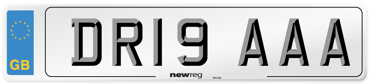 DR19 AAA Number Plate from New Reg
