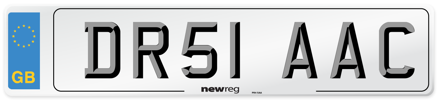 DR51 AAC Number Plate from New Reg
