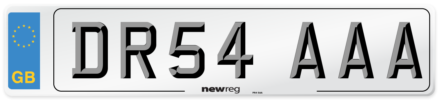 DR54 AAA Number Plate from New Reg