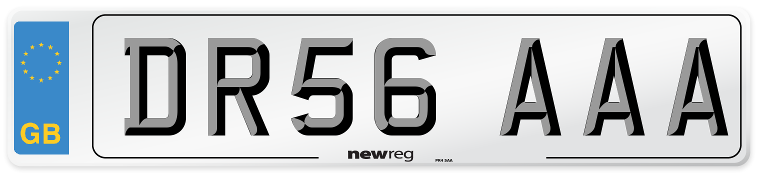 DR56 AAA Number Plate from New Reg