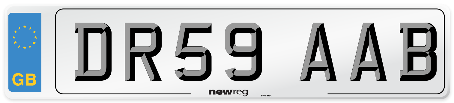 DR59 AAB Number Plate from New Reg