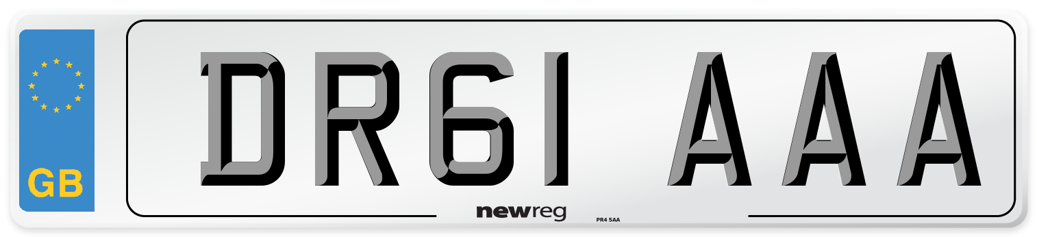 DR61 AAA Number Plate from New Reg