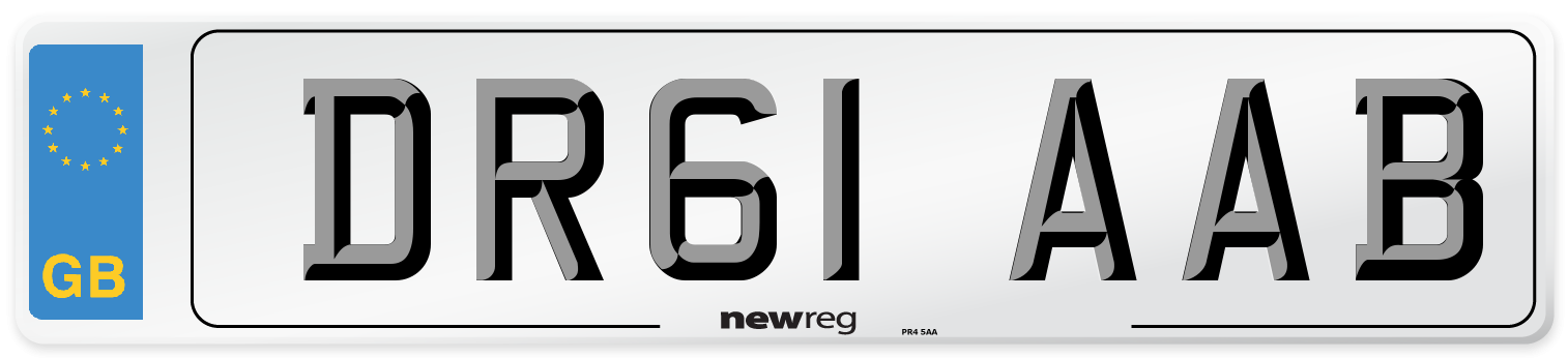 DR61 AAB Number Plate from New Reg