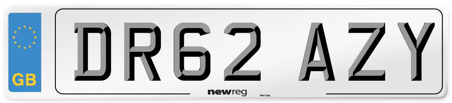 DR62 AZY Number Plate from New Reg