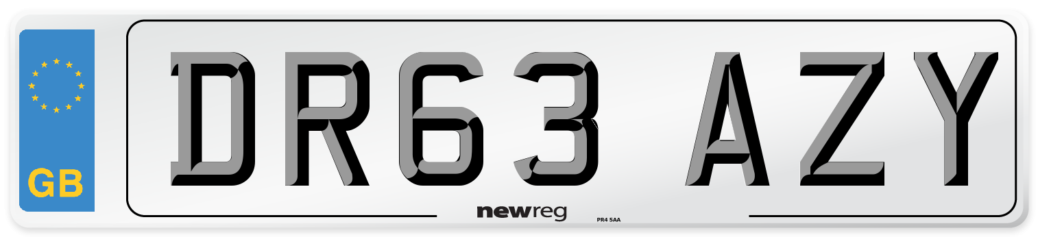 DR63 AZY Number Plate from New Reg
