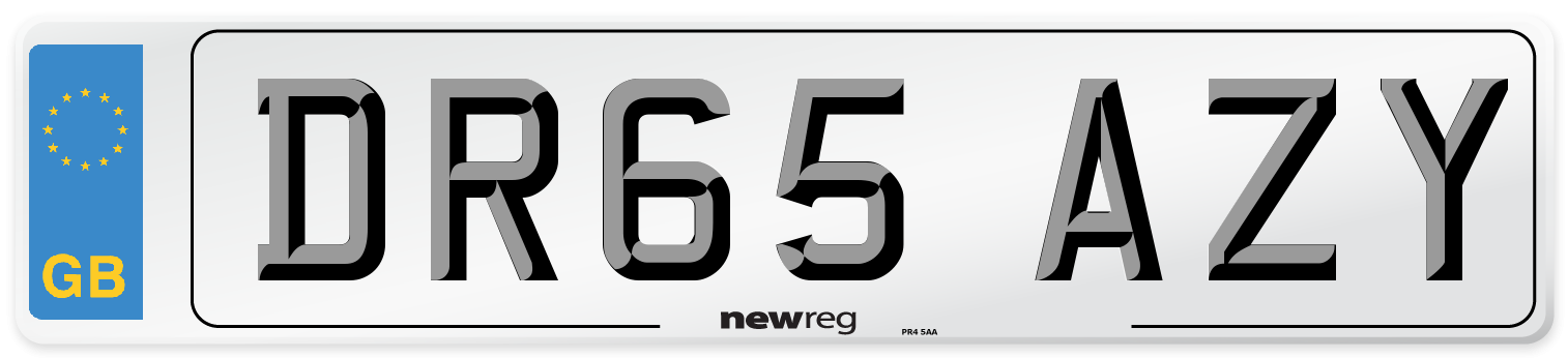 DR65 AZY Number Plate from New Reg
