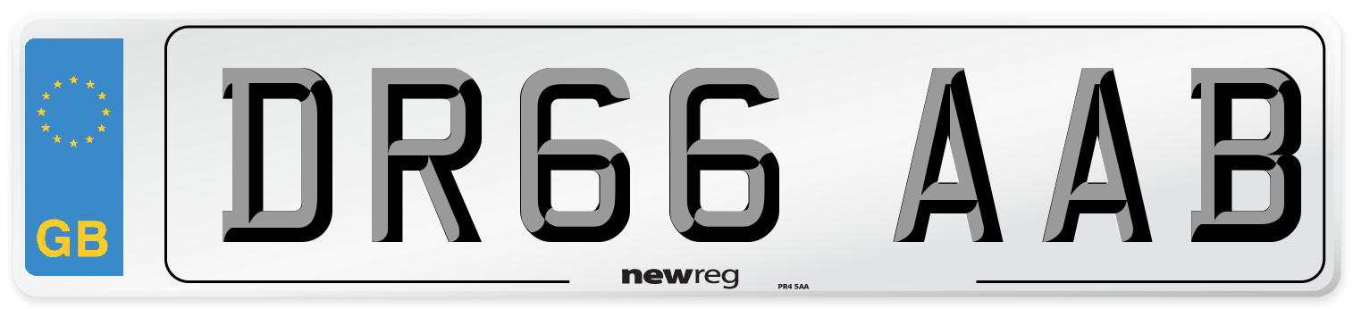 DR66 AAB Number Plate from New Reg