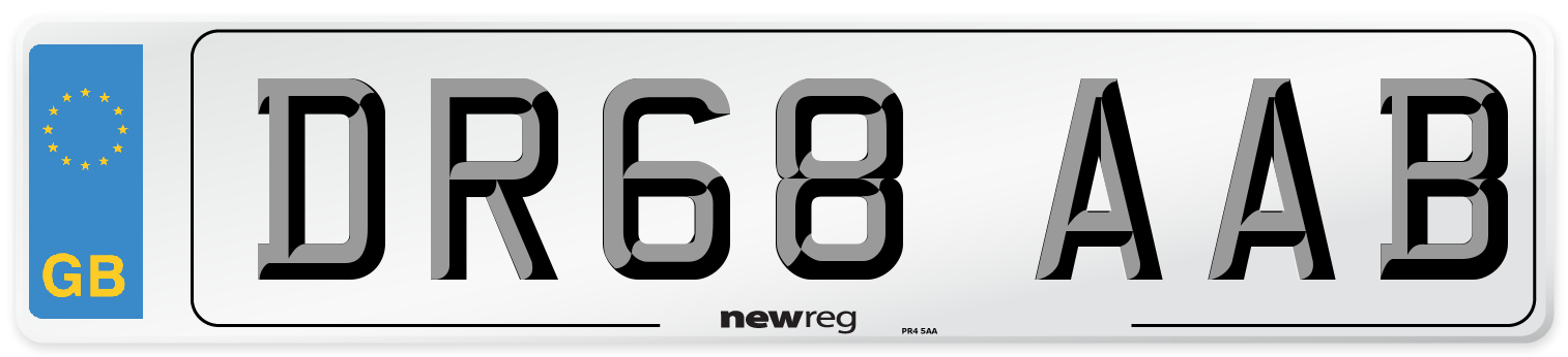 DR68 AAB Number Plate from New Reg
