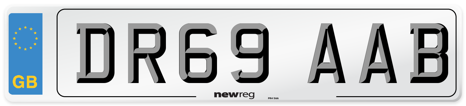DR69 AAB Number Plate from New Reg
