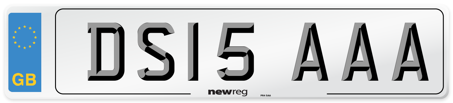 DS15 AAA Number Plate from New Reg