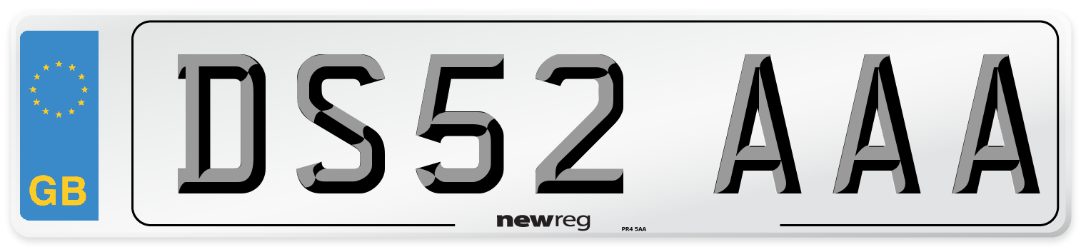 DS52 AAA Number Plate from New Reg