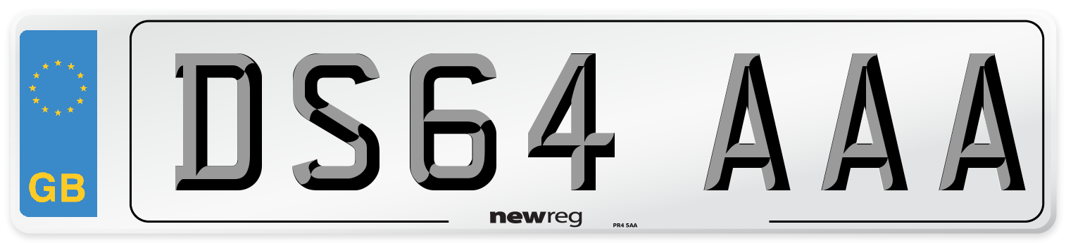 DS64 AAA Number Plate from New Reg