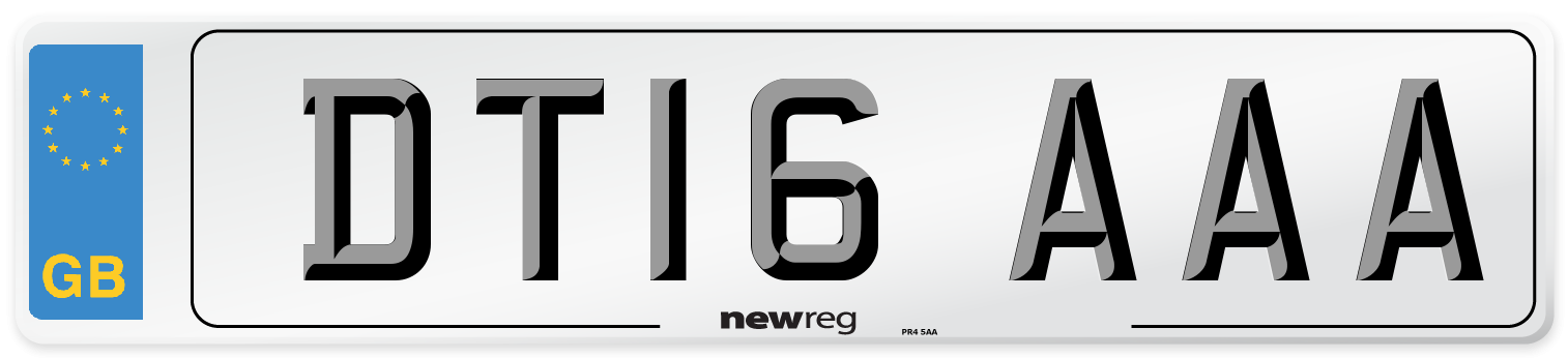 DT16 AAA Number Plate from New Reg
