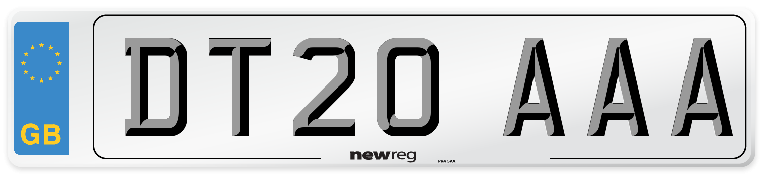 DT20 AAA Number Plate from New Reg