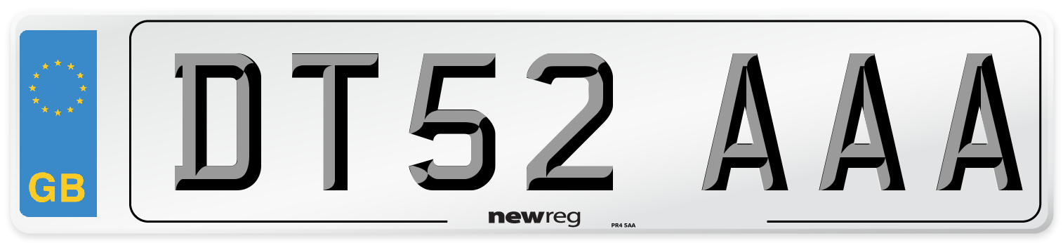 DT52 AAA Number Plate from New Reg