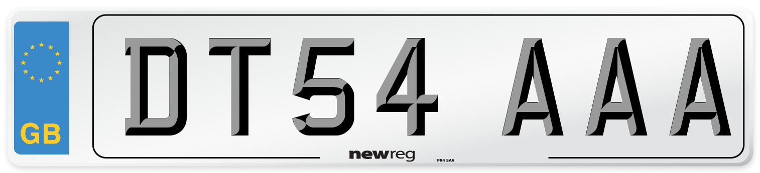 DT54 AAA Number Plate from New Reg