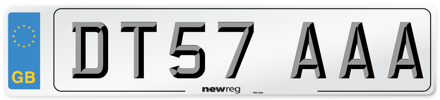 DT57 AAA Number Plate from New Reg
