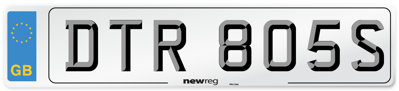 DTR 805S Number Plate from New Reg