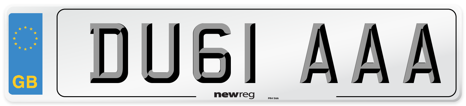 DU61 AAA Number Plate from New Reg