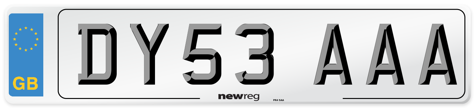 DY53 AAA Number Plate from New Reg