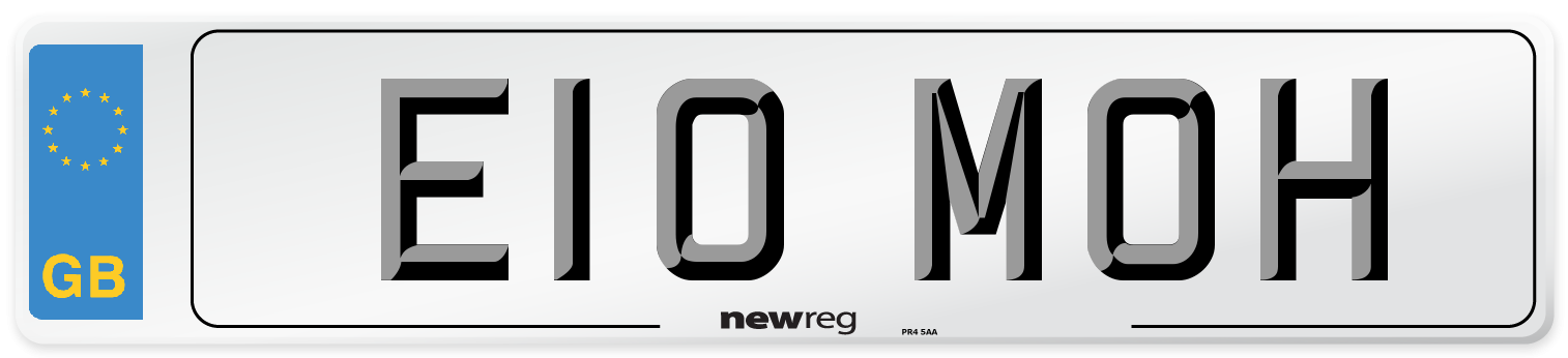 E10 MOH Number Plate from New Reg