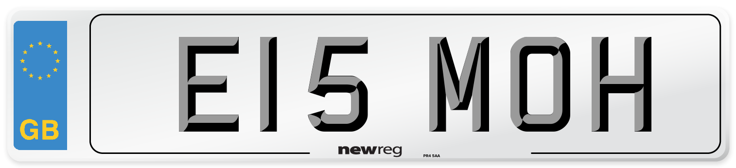 E15 MOH Number Plate from New Reg