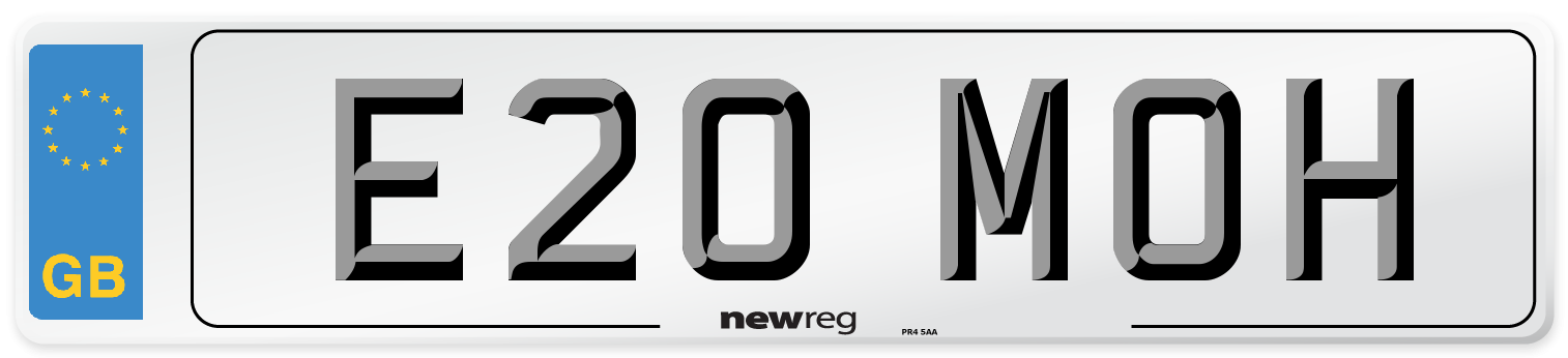 E20 MOH Number Plate from New Reg