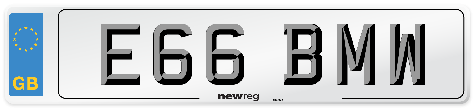 E66 BMW Number Plate from New Reg