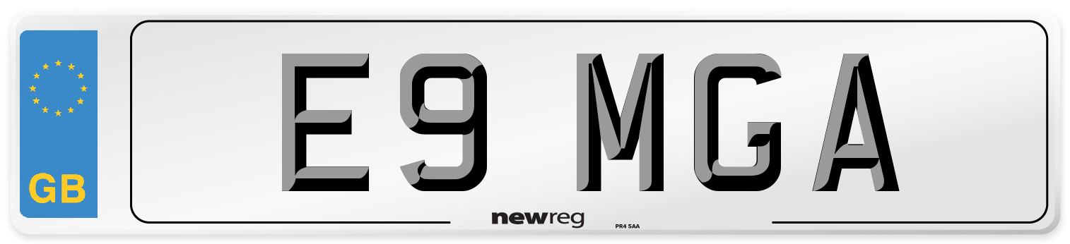 E9 MGA Number Plate from New Reg