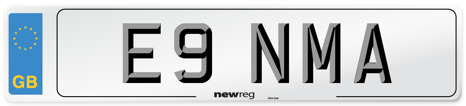 E9 NMA Number Plate from New Reg