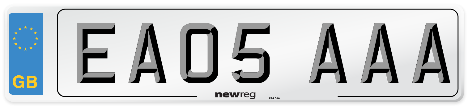 EA05 AAA Number Plate from New Reg