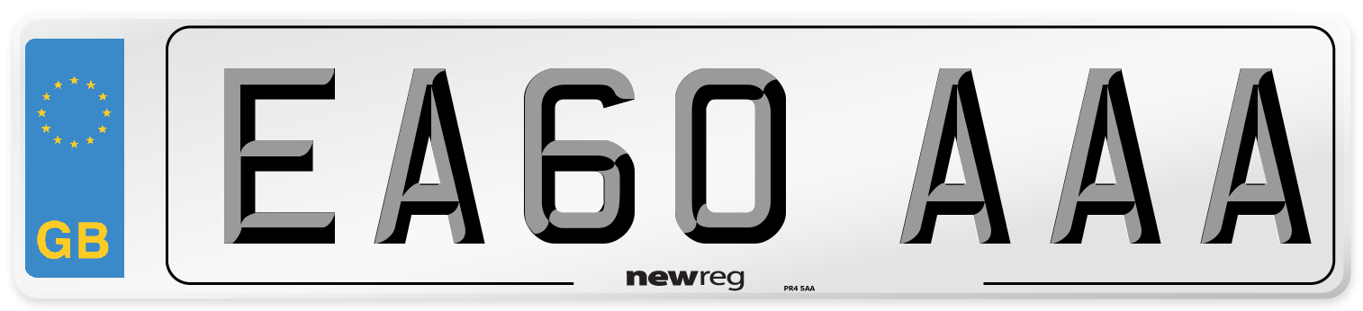 EA60 AAA Number Plate from New Reg
