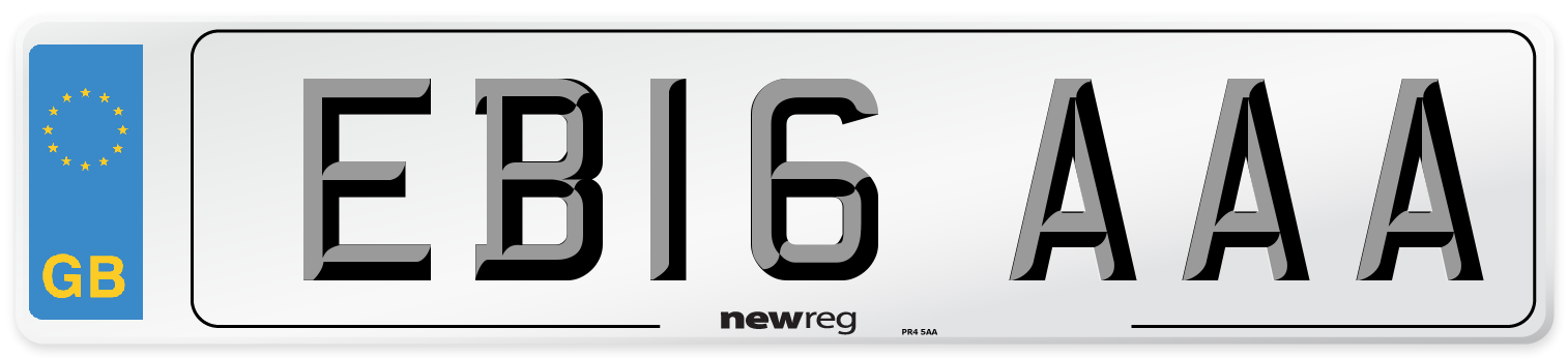 EB16 AAA Number Plate from New Reg