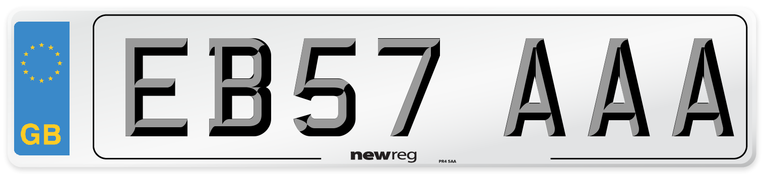 EB57 AAA Number Plate from New Reg