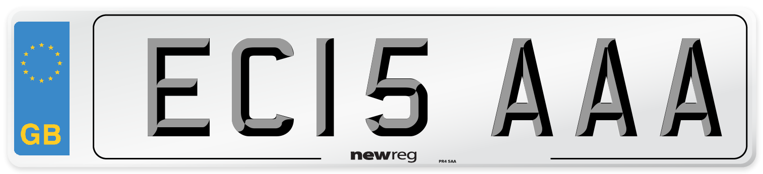 EC15 AAA Number Plate from New Reg