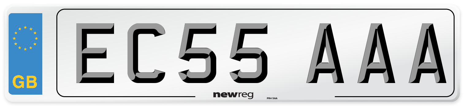 EC55 AAA Number Plate from New Reg