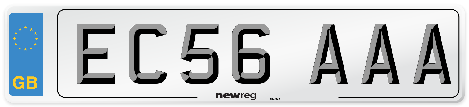 EC56 AAA Number Plate from New Reg