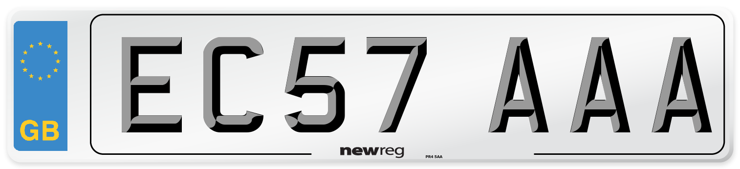 EC57 AAA Number Plate from New Reg