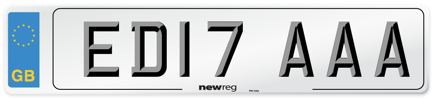 ED17 AAA Number Plate from New Reg