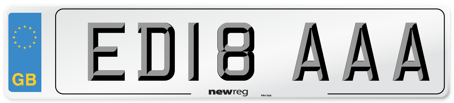 ED18 AAA Number Plate from New Reg